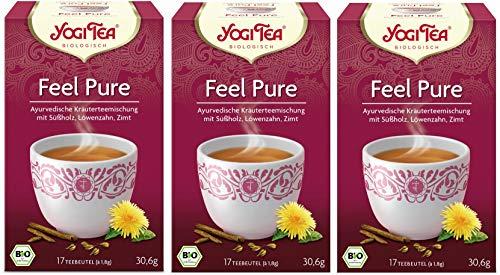 3er Pack Yogi Tee BIO Detox Tee, 17 Btl.à 1,8g vormals: Kleiner Kur Tee (frachtfreie Lieferung (BRD) ab € 15,00) (3)