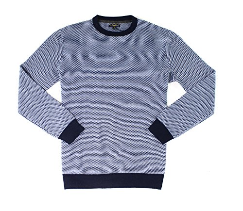 Club Room Mens Geo Jacquard Pullover Sweater, Blue, Big 2X