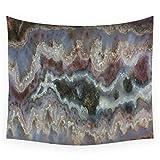 Cady Mountain Banded Agate Wall Tapestry Cover Telo Mare Coperta da tiro Picnic Yoga Mat Decorazione Tessuti, 150X200 cm