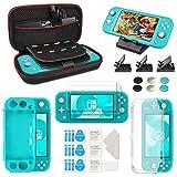 Keten Kit Accessori 12 in 1 per Nintendo Switch Lite(2019), Fornito con Custodia Nintendo Switch Lite/Cover in Silicone/Proteggi Schermo HD/Supporto/Cover in TPU