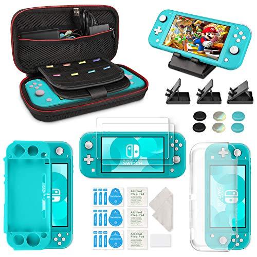 Keten 6 in 1 Zubehör für Nintendo Switch Lite, Switch Lite Tragetasche/Silikonabdeckung/HD Displayschutzfolie