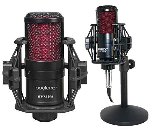 Boytone BT-72SM Plug & Play Podcast Cardioid Condenser Studio Microphone Recording, 25mm Large Diaphragm