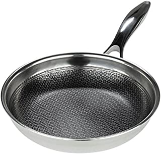 Frieling Black Cube Hybrid Stainless/Nonstick Cookware Fry Pan, 8-Inch