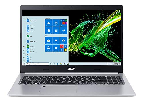 Acer Aspire 5 A515-55-56VK, 15.6' Full HD IPS Display, 10th Gen Intel Core i5-1035G1, 8GB DDR4, 256GB NVMe SSD, WiFi 6, HD Webcam, Fingerprint Reader, Backlit Keyboard, Windows 10 Home