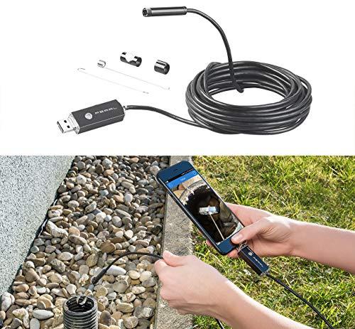 Somikon Rohrkamera: USB-HD-Endoskop-Kamera für PC und OTG-Android-Smartphone, 5 m, IP67 (Rohrkamera für Handy)