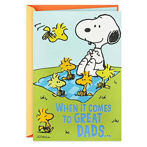 Hallmark Pop Up Father's Day Card for Dad From Kids (Peanuts Snoopy and Woodstock Picnic)
