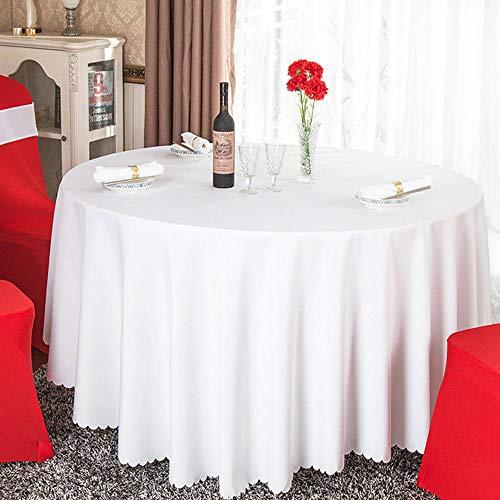 Lotto all'ingrosso Banchetto da hotel in poliestere bianco solido Tovaglia rotonda Ristorante Tovaglia in oro rosso Tovaglia per decorazioni per feste 260 cm