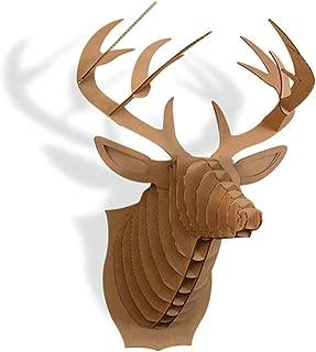Paper Maker Cardboard 3D Deer Head Wall Decoration Art Animal Head Wall Hanging Decor