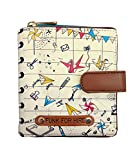 Funk For Hire Women Origami Printed Off White Vegan Leather Wallet