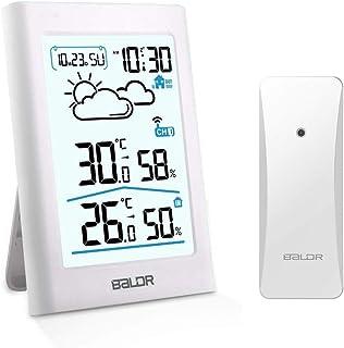 SINZONeu Station météo sans Fil, Thermomètre Hygromètre Baromètre Intérieure Extérieure avec Capteur LED Ecran Rétro-éclai...