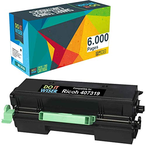 Do it wiser Compatible Toner Cartridge Replacement for Ricoh SP 3600DN 3600SF 3610SF 4510DN 4510SF - 407340 (Black)