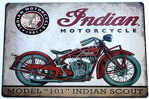 Indian Motorcycle Model Metall Blechschild Retro Metall gemalt Kunst Poster Dekoration Plaque Warnung Bar Cafe Garage Party Game Room Hauptdekoration