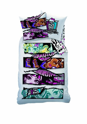 CTI Monster High Velvet, Bettzeug-weiß 140 x 200