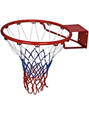 Mayor Professional Heavy Duty Basketball Net- All Weather, Fits Standard Indoor or Outdoor 12 Loops Rims (Pair)(3MM)