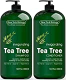Anti Dandruff Tea Tree Oil Shampoo and Conditioner Set – Deep Cleanser – Relief for Dandruff and Dry Itchy Scalp – Therapeutic Grade - Helps Promote Hair Growth – 16.9 fl Oz