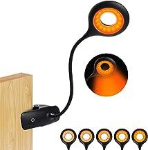 Leeslamp, 16 led-klemlamp, oplaadbaar via USB, klemlamp, 5 helderheidsniveaus, dimbaar, 360 graden flexibele klemlamp, oog...