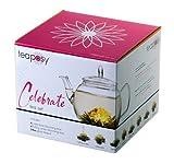 Feelino Celebrate Teeblumen-Geschenkset Zauber in der Tee-Kanne, mit Glas-Teekrug 700 ml und 8...