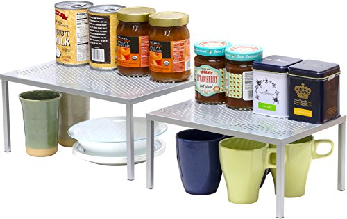 Expandable Stackable Kitchen Cabinet and Counter Shelf Organizer