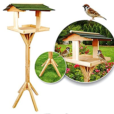 Parkland Traditional Wooden Bird Table Garden Birds Feeder Feeding Station Free Standing from Parkland