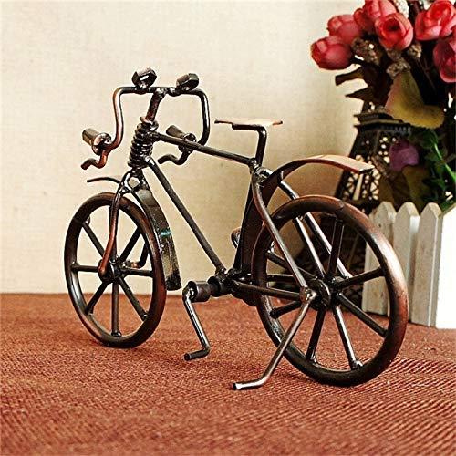 weichuang Peluche de juguete antiguo para decoración del hogar, diseño de bicicleta, miniaturas, juguete de cumpleaños, regalos creativos, juguetes de felpa (color: bronce)