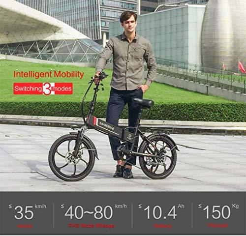 SHIJING Samebike 20' Electric Bike 48V 8Ah Built-in Lithium Battery E Bike Electric Bicycle Folding Powerful Motor Electric Bike Cycling,1