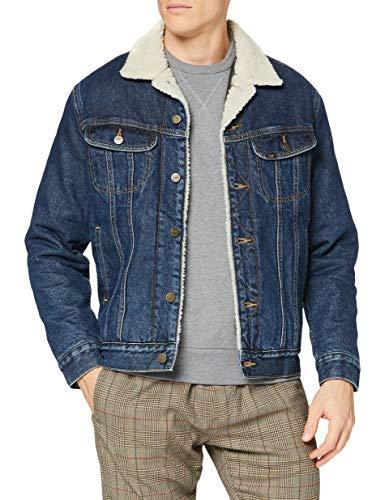 Lee Mens Sherpa Denim Jacket, Stone Clayton_01, M