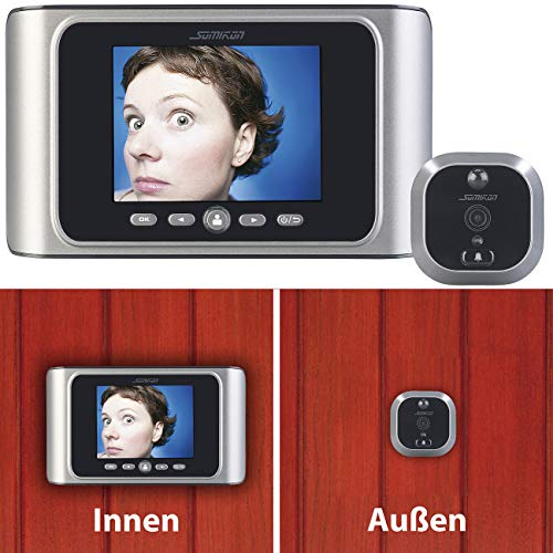 Somikon Türspionkamera: Digitale Türspion-Kamera mit Bewegungserkennung (Elektronischer Türspion)