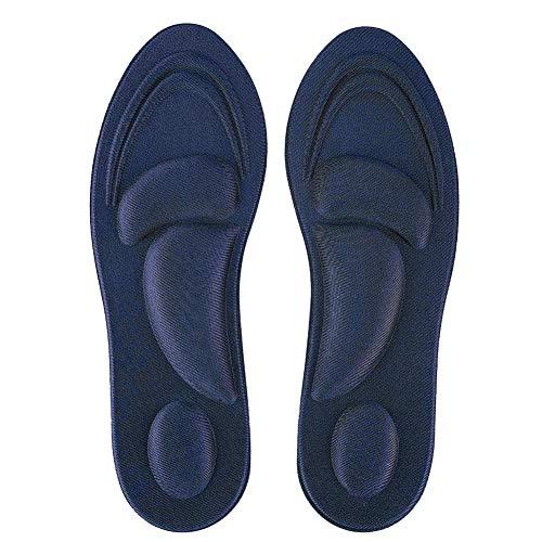 Kee nso Schuheinlagen für Männer und Frauen Schuheinlagen für Sportschuhe, Turnschuhe, Turnschuhe, Arbeitsstiefel und Wanderschuhe, Komfort, Dämpfung(Dark Blue for Women-Dunkelblau)