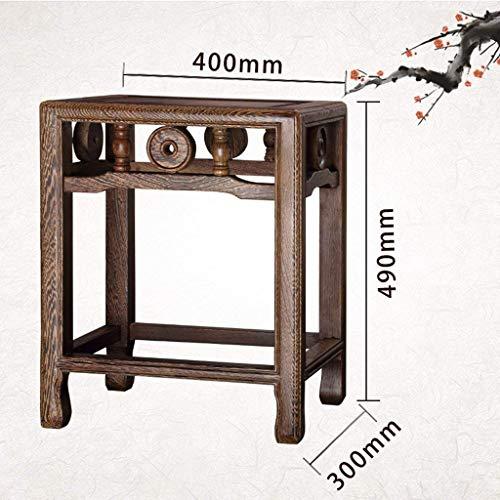 AXCJ Kleiner Seat Mahagoni Kleine Hocker Möbel Massivholz China Style Kleine Hocker DREI Art Stil Heimgebrauch (Design: B),C