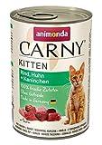 animonda Carny Kitten Katzenfutter, Nassfutter Katzen bis 1 Jahr, Rind, Huhn + Kaninchen, 6 x 400 g
