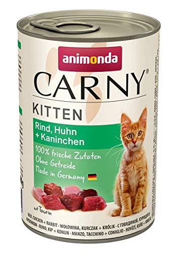 Animonda 83810, Cibo per Gattini Carny Kitten, Pacco da 6 (6 x 200 g)