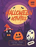 Halloween Activities: BIG BOOK for Kids 3-5 & Toddlers | Colorings - Mazes - Word Search - Matching Games - Sudoku and a lot more : 100 activity pages | Large Format