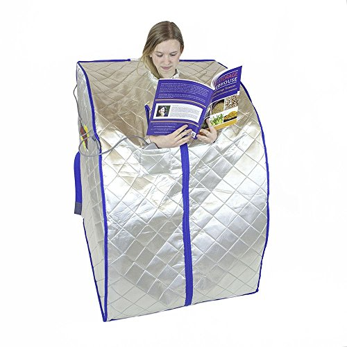 G-Force FIR-Real Portable Far Infrared FIR Sauna (Large) with Low EMF Heating Panels
