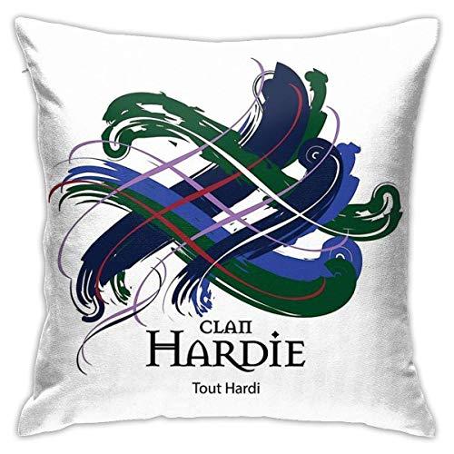 KEDFGUI Kissenbezüge Clan Hardie Kissen werfen dekorative Kissenbezug 18 x 18 Zoll für Schlafsofa
