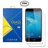 [2 Pack] Protector de cristal templado compatible con Huawei Honor 5C NEM-L51 / NEM-TL00H / NEM-UL10 / NEM-L22 / NMO-L23 - Pantalla antigolpes y antiarañazos