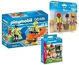 PLAYMOBIL Juego de 3 limpiadores de carreteras 70203 + barredora 70249 + limpiador de carreteras + 70272 DuoPack