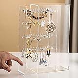 Caja organizadora de joyas de acrílico, soporte transparente para collares, anillos, pendientes, soporte de exhibición, regalo para mujeres, niñas