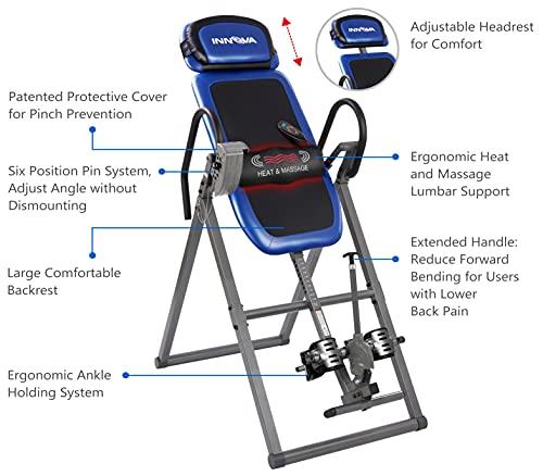 Product Image 2: Innova ITM4800 Advanced Heat and Massage Inversion Table
