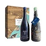 Duet Sea Soul Nº 4 - Pack de Vino Submarino + Vino Terrestre para cata comparada - Crusoe Treasure