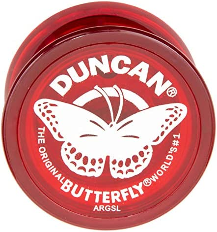 Duncan Toys Butterfly Yo-Yo, Beginner Yo-Yo with String, Steel Axle and Plastic Body, Colors May Vary
