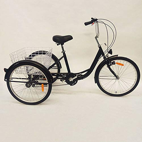 Triciclo para adultos de 24 pulgadas, triciclo para adultos, 3 ruedas, 6 invitados,...