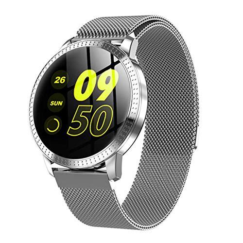 DSY Cf18 Smart Watch OLED Color Pantalla Smartwatch Men and Women Fashion Fitness Tracker Tasa de Corazón Cinturón Inteligente para iOS Android, C Cronómetro de Contador de calorías