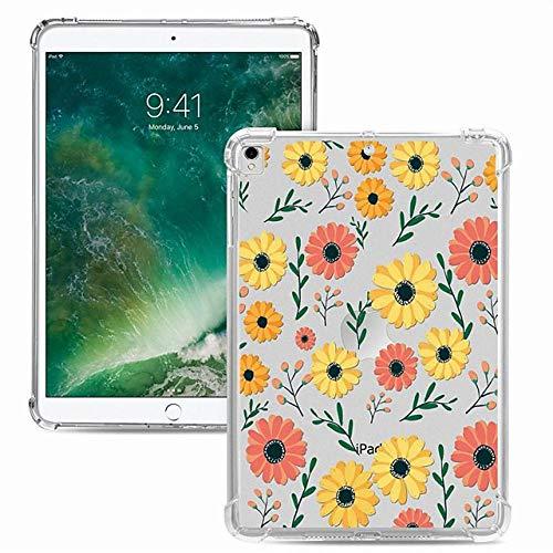 Funda para Apple iPad Pro 11 2020, a prueba de golpes, transparente, diseño de flores, TPU para iPad 10.2 Pro 10.5 2019 Air 9.7 iPad 234 mini 12345 7.9-iPad_6_(2018)_9.7''
