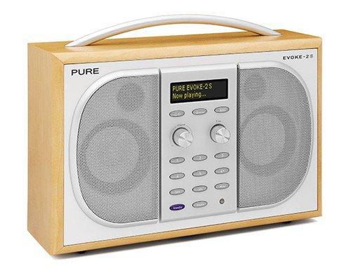 Pure VL-61925 Evoke-2S Tragbares Stereo-Radio (DAB/DAB+/UKW-Tuner, 30 Watt RMS) ahornholz