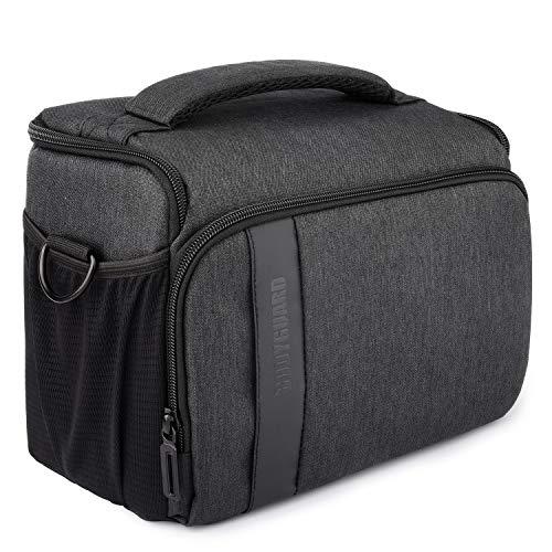 Bodyguard Bolsa para cámara SLR XL + Paris Bolsa de Fotos Negra para cámaras SLR para Cuerpo y 3-4 Lentes
