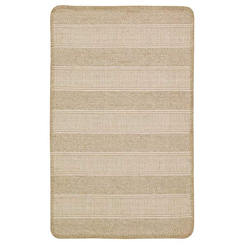 Ikea KLEJS - Tappeto da ufficio per camera da letto, tessuto a piatto, colore: Beige Bianco, 50 x 80 cm