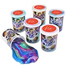 Kicko Marbled Unicorn Color Slime - Pack of 6 Colorful Galaxy Sludgy Gooey Kit for Sensory and Tactile Stimulation, Stress Relief, Prize, Party Favor, Educational Game - Kids, Boys, Girls