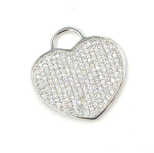 Joyas Aurum–Colgante para mujer Plata Heart Corazón Passione Swarowski
