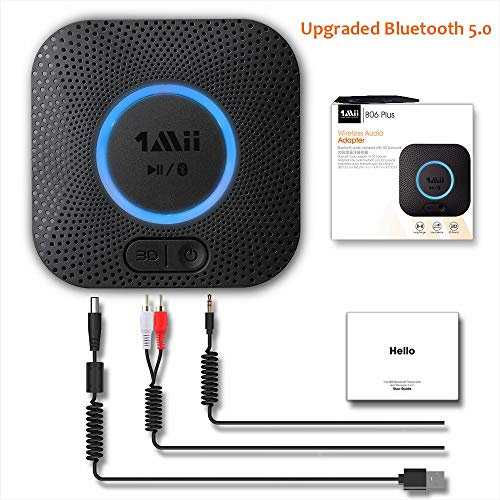 Upgraded 1Mii Receptor Bluetooth 5.0, Adaptador Audio Blueto