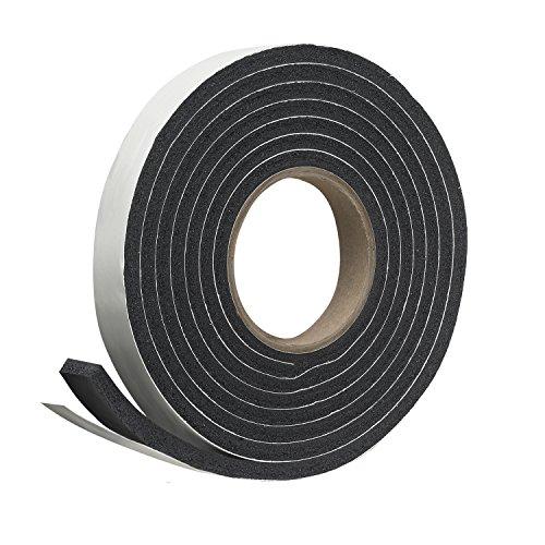 """Frost King P Self-Stick Rubber Foam Weatherseal, 1"""" W, 5/16"""" T, 10 ft L, Black"""